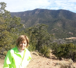 At the top of Monte Sol, Atalaya Peak in the background.